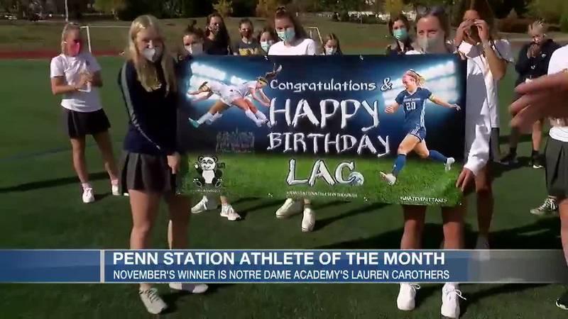 November's Penn Station Athlete of the Month Lauren Carothers