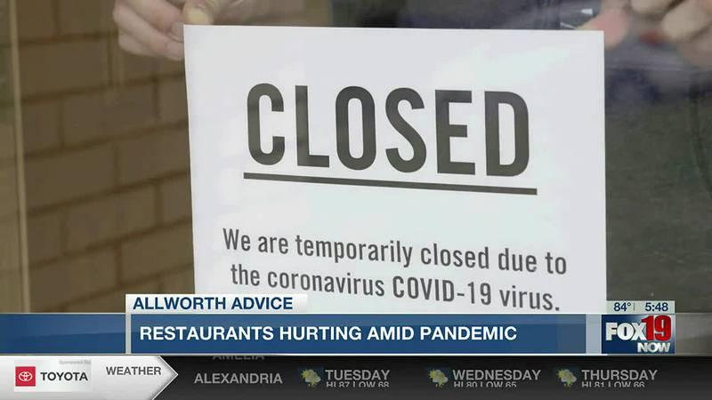 Allworth Advice: Restaurants hurting amid pandemic