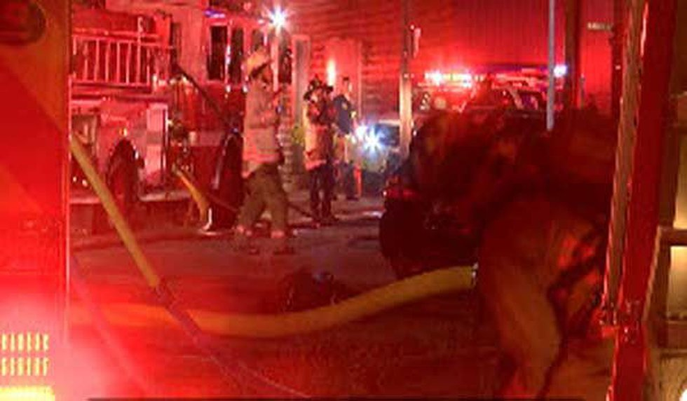 A firefighter fell into a hole and suffered a minor injury. (FOX19 NOW/Dave Smith)