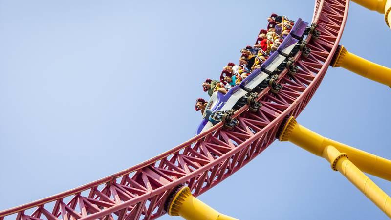 Dragster at Cedar Point in Sandusky, Ohio.