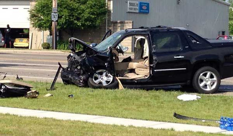 One of the vehicles involved in a fatal accident Thursday at Port Union Road and Ohio 747 in...