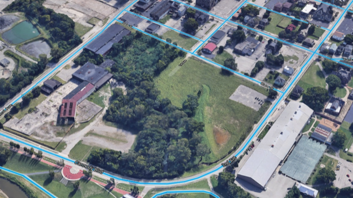 The main site is an 11-acre, city-owned lot bounded by Carmody Boulevard, South Water Street...