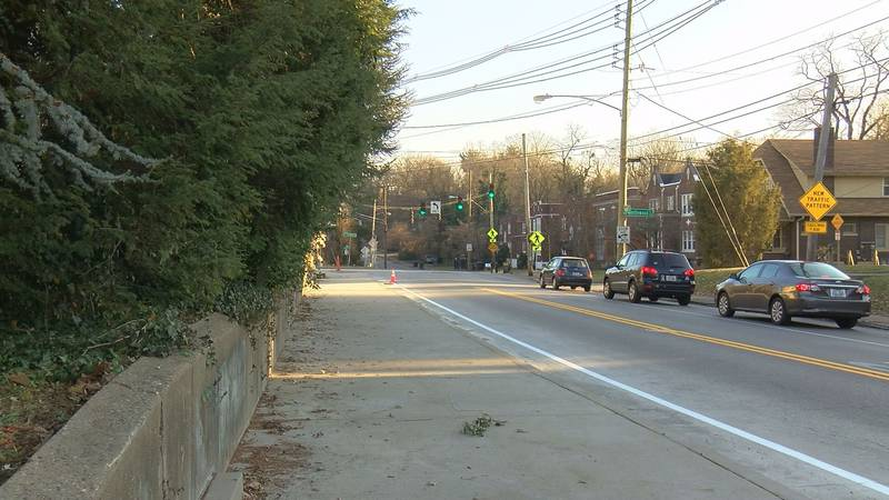 A new wide sidewalk along Barret Avenue will make the area safer for pedestrians.